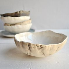 hand built bowl modern Ceramic Bowl  minimalist by OneClayBead, $23.00