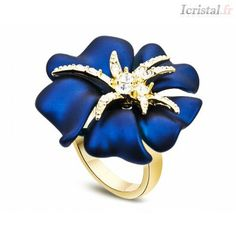 Enamel Flower Ring Korean Style Fashion Lady Finger Jewelry With Top AAA Cubic Zircon Trendy Retro Perfume Women Christmas Rings Hand Jewelry, I Love Jewelry, Jewlery, Gold Jewellery, Fashion Rings, Fashion Jewelry, Style Fashion, Swarovski, Dress Rings