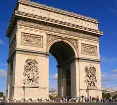Arc de Triumphe is one of the defining monuments of Paris, France.