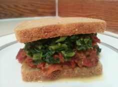 Jerk Sloppy Joes with Coconut Creamed Spinach - recipe pg. 94 'Isa Does It'