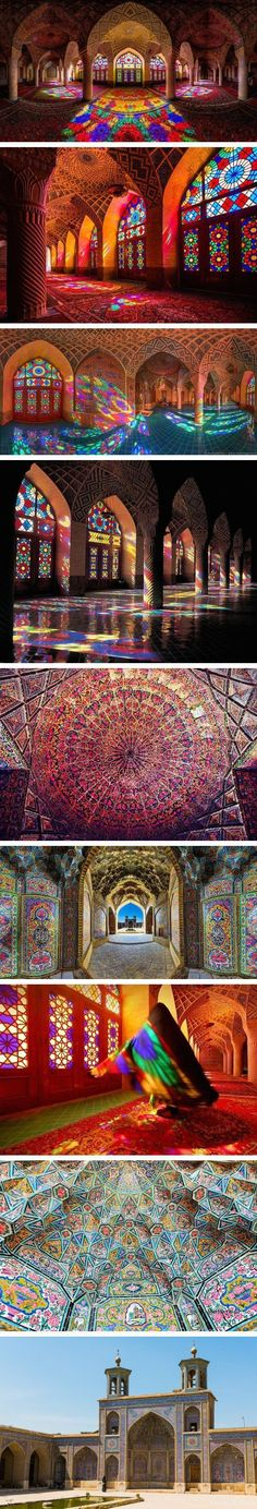 The stunning Nasir al-mulk Mosque, Iran.