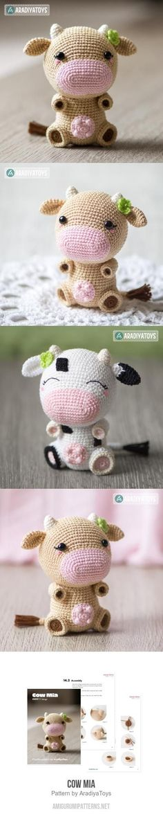 Cow Mia amigurumi pattern