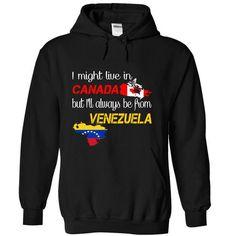 Venezuela-Canada - #thank you gift #college gift. WANT THIS => https://www.sunfrog.com/LifeStyle/Venezuela-Canada-xtirm-Black-Hoodie.html?60505
