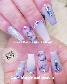 25 Marble Nail Design with Water & Nail Polish 2 25 Marmornagel Design mit Wasser & Nagellack 2 Beautiful Nail Designs, Cute Nail Designs, Beautiful Nail Art, Gorgeous Nails, Pretty Nails, Marble Nail Designs, Marble Nail Art, Acrylic Nail Designs, Best Acrylic Nails