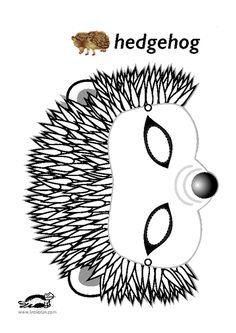 children activities, more than 2000 coloring pages Animal Masks For Kids, Animal Crafts For Kids, Mask For Kids, Printable Masks, Printable Crafts, Printables, Hedgehog Craft, Fox Crafts, Felt Mask