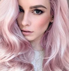 New hair pink pastel blonde cotton candy Ideas Pastel Blonde, Pastel Pink Hair, Baby Pink Hair, Pink Blonde Hair, Lilac Hair, Light Pink Hair, Cotton Candy Hair, Hair Romance, Hair Color Highlights