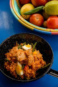 African food, Nigerian food  Jollof Rice. Spicy Jollof rice from west Africa