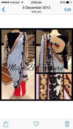 Pant saree by MischB Couture, indianwear fusion