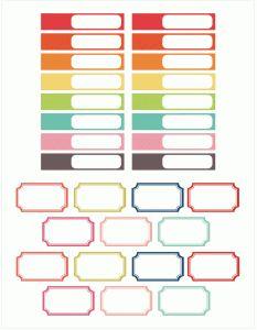 Silhouette Design Store - View Design #97370: planner labels set