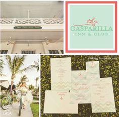 Katie & Alan | Gasparilla Inn wedding invitations | Custom by Nico and Lala