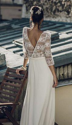 Featured Dress: Laure de Sagazan; Wedding dress idea.