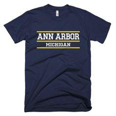 Ann Arbor Michigan Classic Bars T-shirt