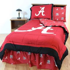 Alabama Crimson Tide Bed in a Bag w/ Colored Logo Sheets