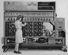 "14 Mar 40: The first ""bombe"" decipher machine becomes operational at Bletchley Park in England. It not only plays an important role in the outcome of World War II, but will lead directly to today's modern computing. #WWII #History"