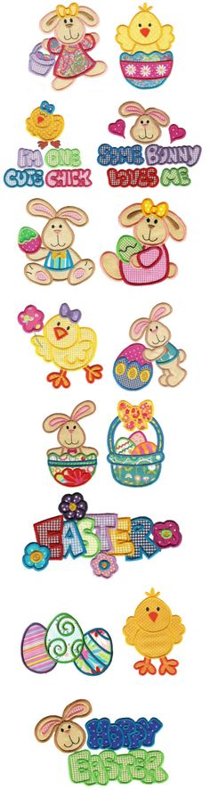 Embroidery | Machine Embroidery Designs | Bunny Hop Applique