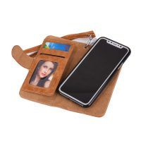 Peňaženka a magnetický obal na iPhone X z kože v hnedej farbe. Púzdro je vyrobené z kože. Púzdro poskytuje dokonalé zapadnutie iPhonu X (1) Mobiles, Electronics, Mobile Phones, Consumer Electronics