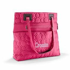 """Thirty One Bag Gift Personalize  Looking for something that can be anything from a gym bag to a diaper bag to an everyday bag? This style is perfect for you! When you need extra space carry it at the tallest height and use the snap closure or pull handles out, fold the top edge down into the body and now you have a secure zip closure. Two great looks in one bag.  Vary You Versatile Bag www.mythirtyone.com/KAS22 Click on """"Place an Order"""" to shop our secure site"""
