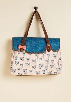 #ModCloth - #Disaster Designs Where There Are Whiskers Weekend Bag - AdoreWe.com