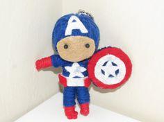 Captain America Voodoo String Doll by VictoriasVoodoos on Etsy, $7.00