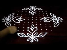 Simple Flowers kolam designs with straight Simple Rangoli Designs Images, Rangoli Designs With Dots, Rangoli With Dots, Beautiful Rangoli Designs, Kolam Designs, Simple Flowers, Beautiful Flowers, Kolam Rangoli, Embroidery Stitches