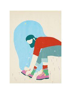 Les Koflach - Illustration réalisée par Tom Haugomat - Numérotée et signée - 18 x 24 cm - Tirage limité à 50 ex. - En exclusivité chez L'illustre Boutique