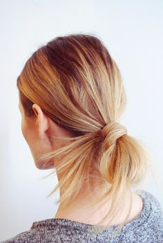 How-to: Chic looped ponytail | theglitterguide.com