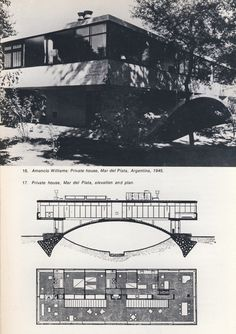 """Amancio Williams  From """"New Directions in Latin American Architecture"""" by Francisco Bullrich"""