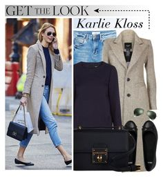 """Celebrity Style: Karlie Kloss"" by monmondefou ❤ liked on Polyvore featuring MANGO, Maje, ASOS, Dolce&Gabbana, Ray-Ban, Model, celebrity, CelebrityLook, karliekloss and CelebrityStyle"