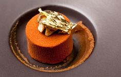 Walnut whip is reimagined by Alyn Williams. You can find the recipe for his signature dish on Great British Chefs