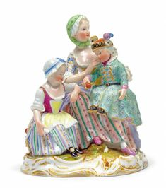 Mutter mit 2 Kindern, die Mutter sitzt auf einem barocke 2 Kind, Disney Characters, Fictional Characters, Auction, Disney Princess, Antiques, Art, Porcelain, Baroque