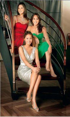 Isabel Preysler and daughters Chabeli Iglesias and Tamara Falco