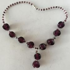 "Free shape glass beads necklace. Length 16"" Lot 271"