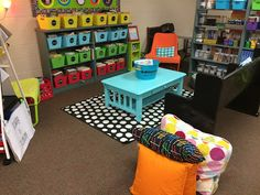Flexible Seating in the Classroom....need to look for a little coffee table at a rummage sale this summer or good will