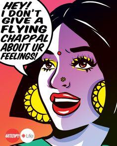 36 Ideas pop art comic wallpaper wallpapers for 2019 Pop Art Comic, Comic Art, Indian Illustration, Drawing Sketches, Art, Funny Art, Feminist Art, Funny Art Prints, Aesthetic Art