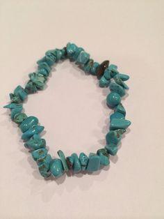 Beautiful turquoise healing stone bracelet on Etsy, $8.00
