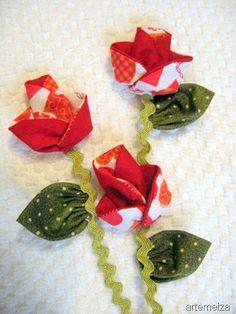 Origami fabric flower fuxico flowers pinte mightylinksfo