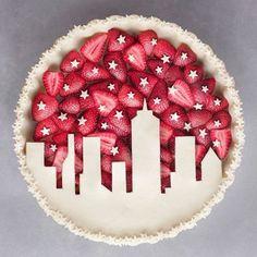 Night Sky Pie ⭐ Strawberry pie inspired by the sky. Would you like a slice of … Night Sky Pie ⭐ Strawberry pie inspired by the sky. Would you like a slice of … – Torten – Pastel Art, Pie Crust Designs, Fruit Cake Design, Pie Decoration, Pies Art, Pie Crust Recipes, Pie Crusts, Strawberry Pie, Fruit Tart