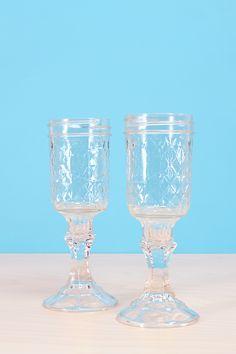 DIY Mason Jar Wine Glasses / Easy Tutorial