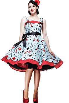 Robe rockabilly pin-Up année 50's - Robe Dixie