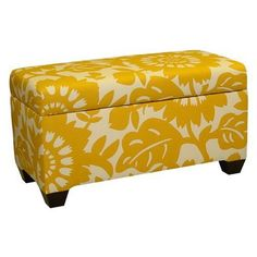 Skyline Furniture Gerber Storage Ottoman Bench - Sungold