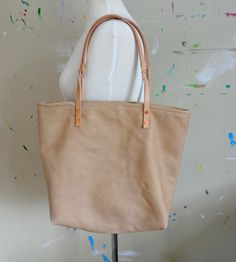 Leather & Copper Tote Bag |  Pine & Boon