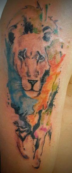 leon en water color.