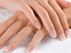 Natural Nails Manicure, Shellac Polish on Fingers or Toes, or Full Set of Acrylic Nails at Nelly Nails No Chip Manicure, Manicure Y Pedicure, Nail Spa, Square Nail Designs, Nail Art Designs, Manicure Natural, Pink Gel, White Tip Nails, Nagel Hacks