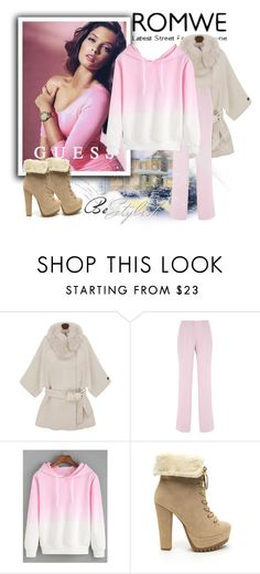 """ROMWE"" by eemiinaa ❤ liked on Polyvore featuring moda, Giambattista Valli e GUESS"