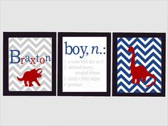 Recreate, use an anchor, and a sailboat instead of Dinos Colors: Navy, White, Khaki, Red