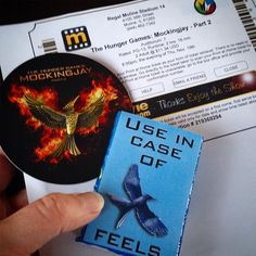 Got my #MockingjayTickets, Kleenex, and Mockingjay pin. Thank you, @thehungergames and @lionsgatemovies for bringing Suzanne Collins' brilliant series to life. The #threefingersalute to you all. 😭😿 Mockingjay Part 2, Suzanne Collins, Hunger Games, Good Books, Bring It On, Feelings, Instagram Posts, Life, Movies