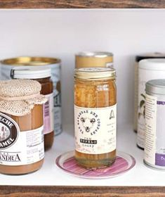 coasters under jars for stickiness---why didn't I think of this...so simple