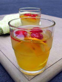 Orange Strawberry Flavored Water