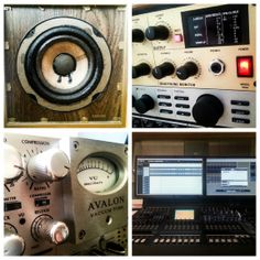 Preparing today's vocal recording session for our upcoming premium game music masterpiece, with original Auratone speakers, SPL and Avalon Mix preamps and Yamaha DM2000.