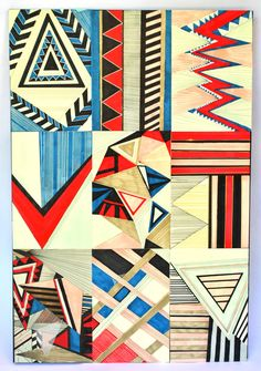 Cuadros abstractos by Mercedes Bazan, via Behance